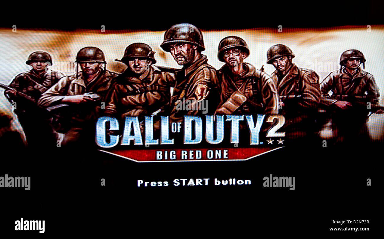 Call of duty 2 start screen - Stock Image