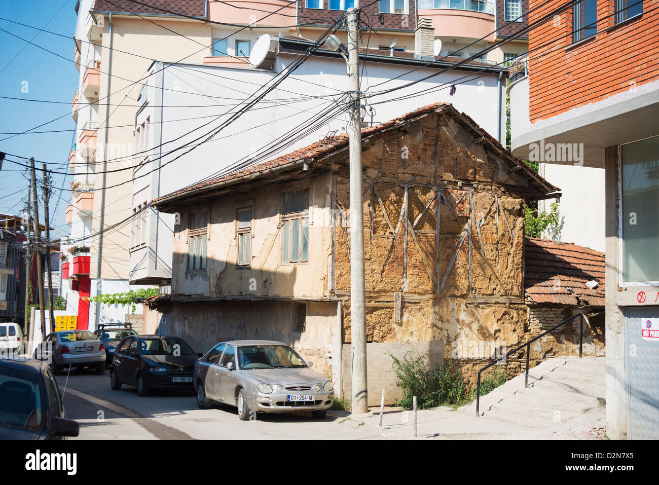 Kosovo, Pristina, old house - Stock Image