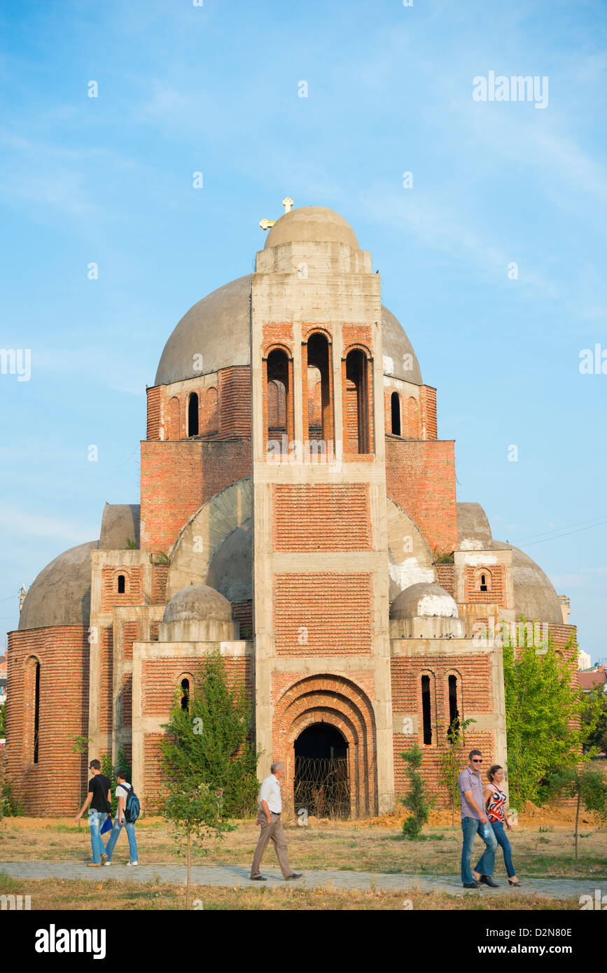 The Balkans, Kosovo, Pristina, city center church - Stock Image