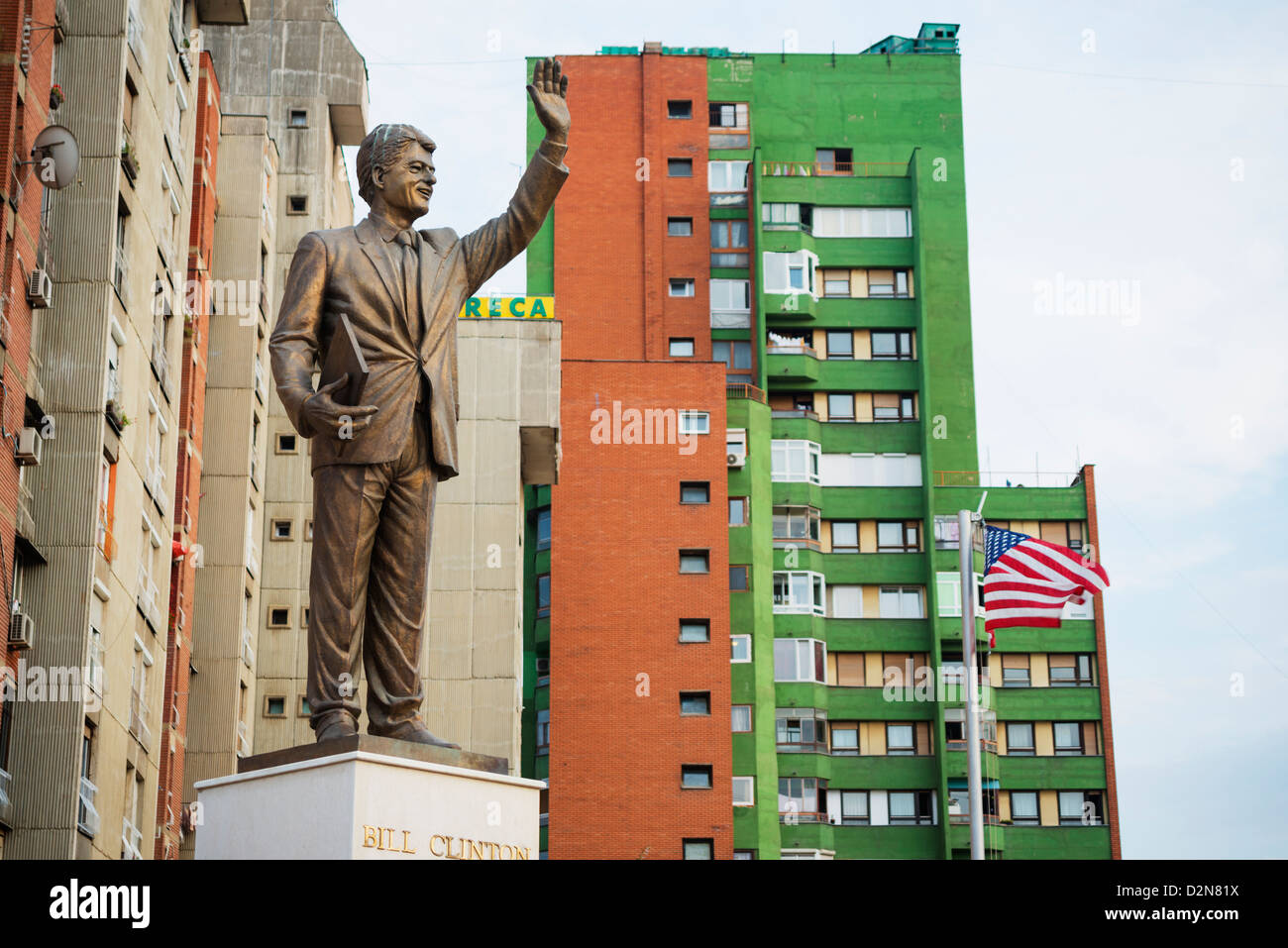 The Balkans, Kosovo, Pristina, Bill Clinton statue - Stock Image