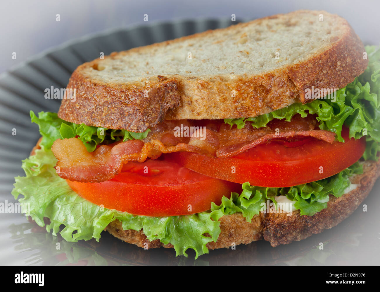 Bacon Lettuce Tomato Sandwich - Stock Image