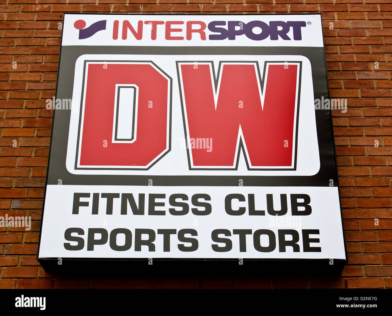 Fitness Club Intersport DW Sport Store Kidderminster - Stock Image