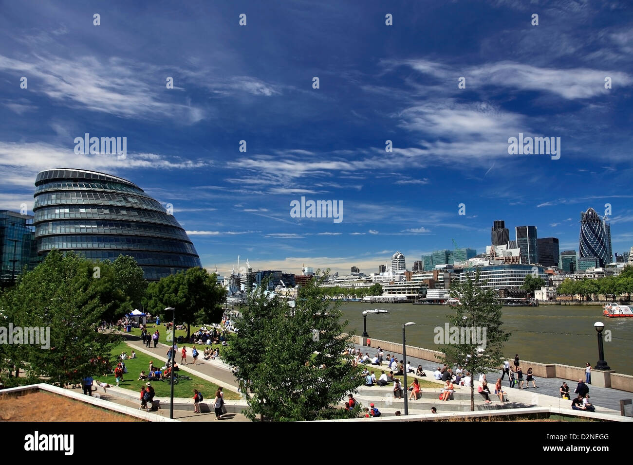 The London Assembly Building, (City Hall), South Bank, London City, England, United Kingdom - Stock Image
