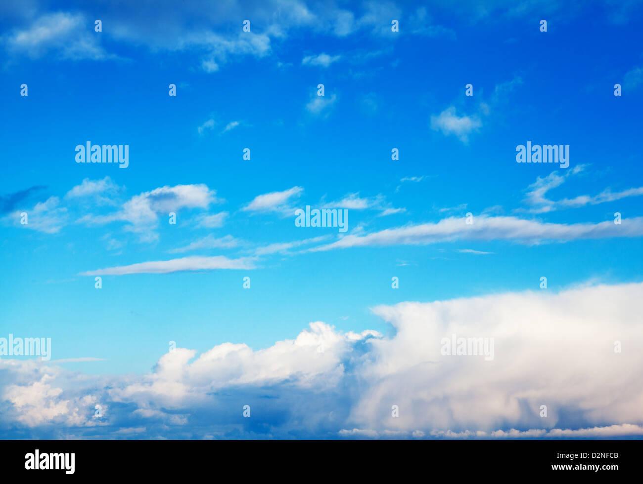 nice blue sky - Stock Image