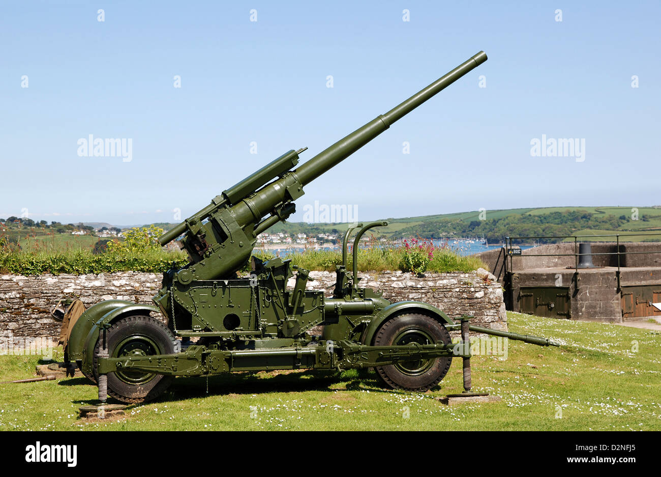 A world war two anti aircraft gun - Stock Image