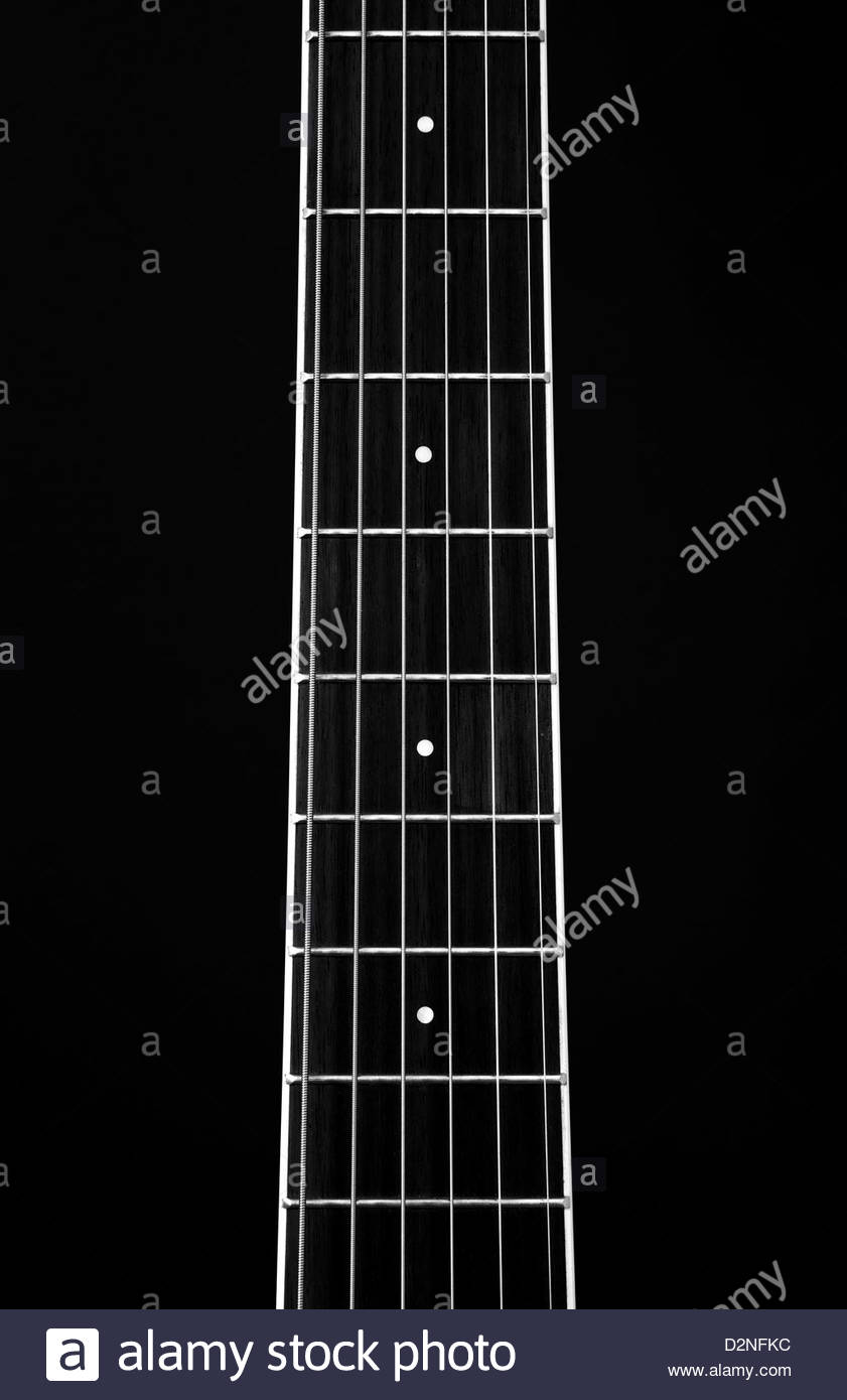guitar strings - Stock Image