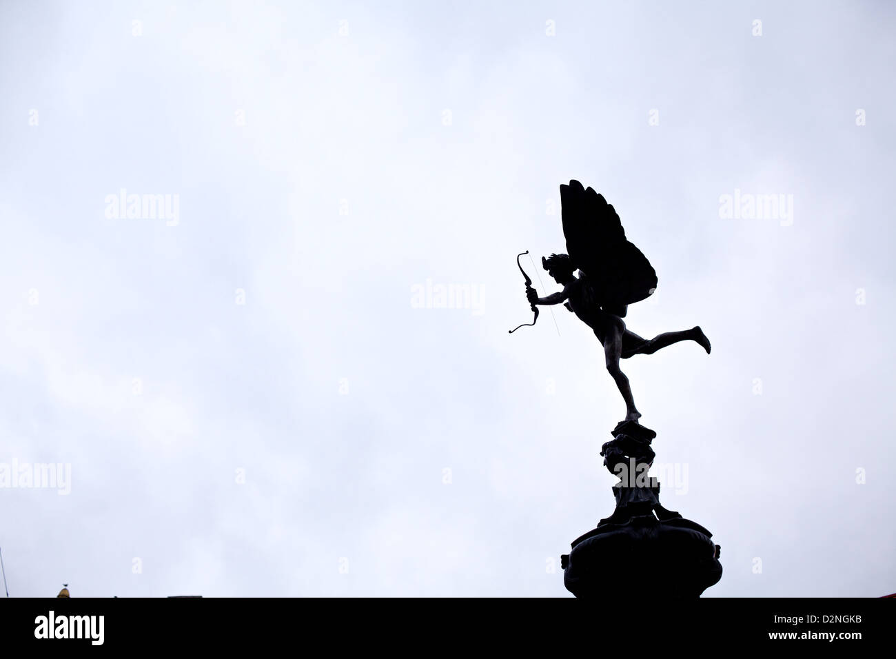 Eros watches over Piccadilly Circus - Stock Image