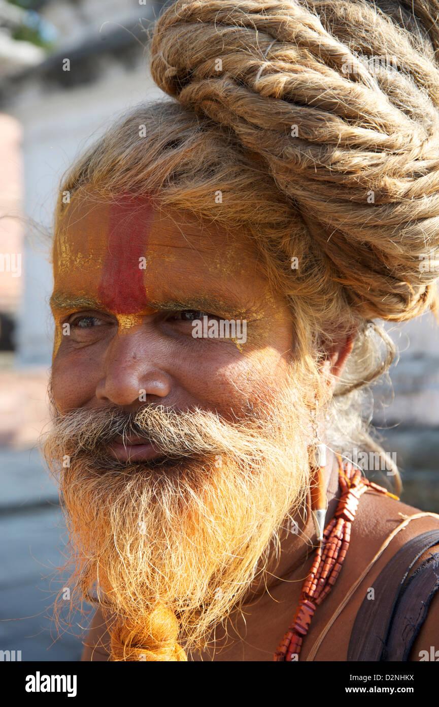 fake sadhu - Stock Image