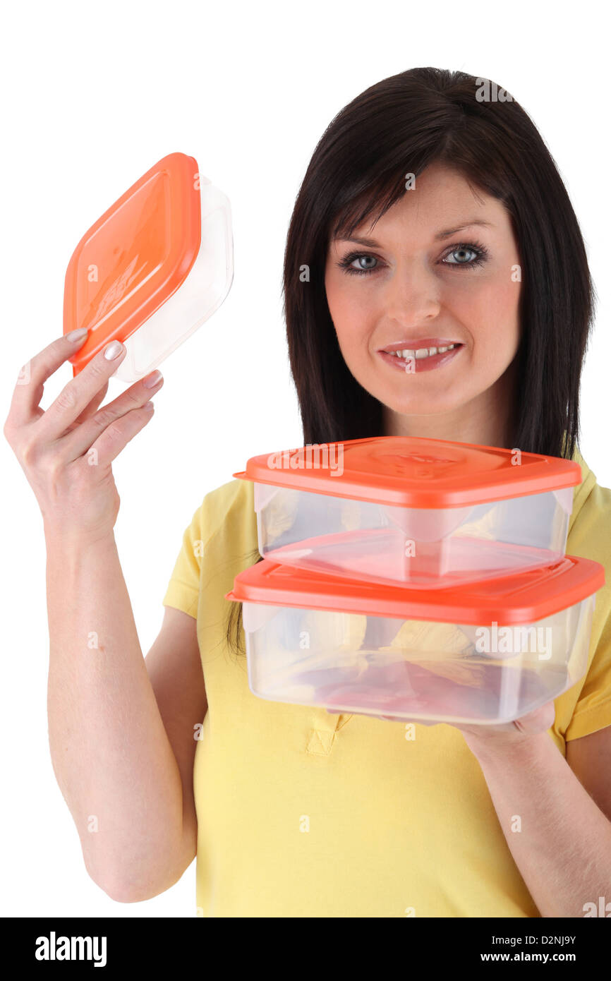 Image result for stock photo of mom holding tupperware
