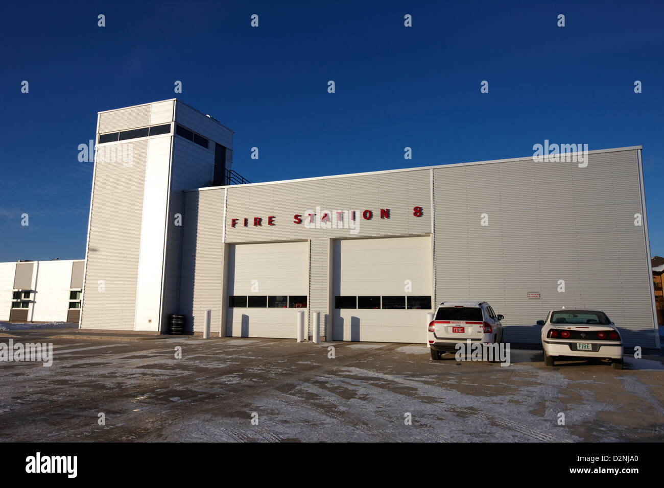 slimmon road fire station Saskatoon Saskatchewan Canada - Stock Image