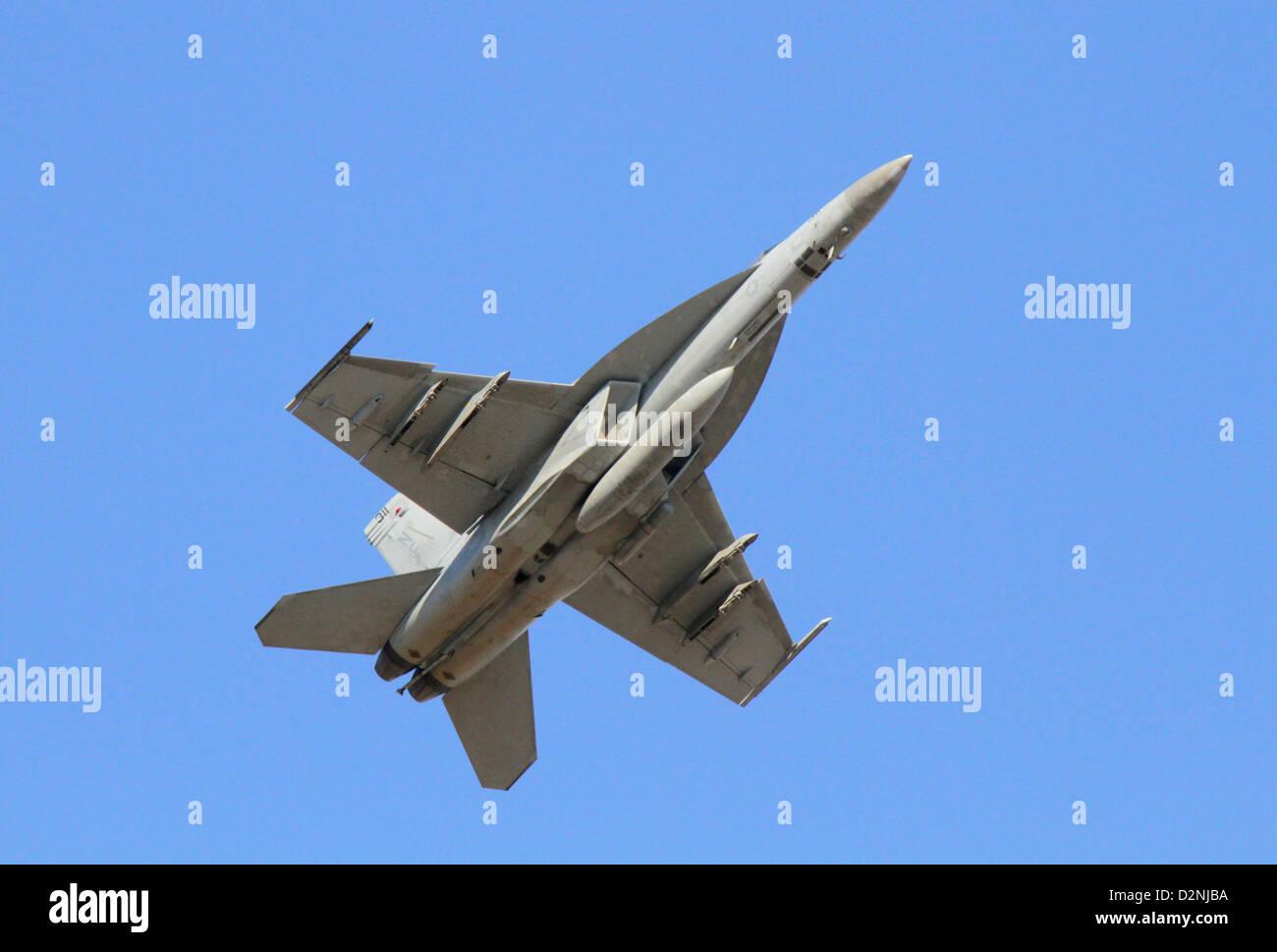Boeing F/A-18E/F Super Hornet multirole fighter aircraft - Stock Image