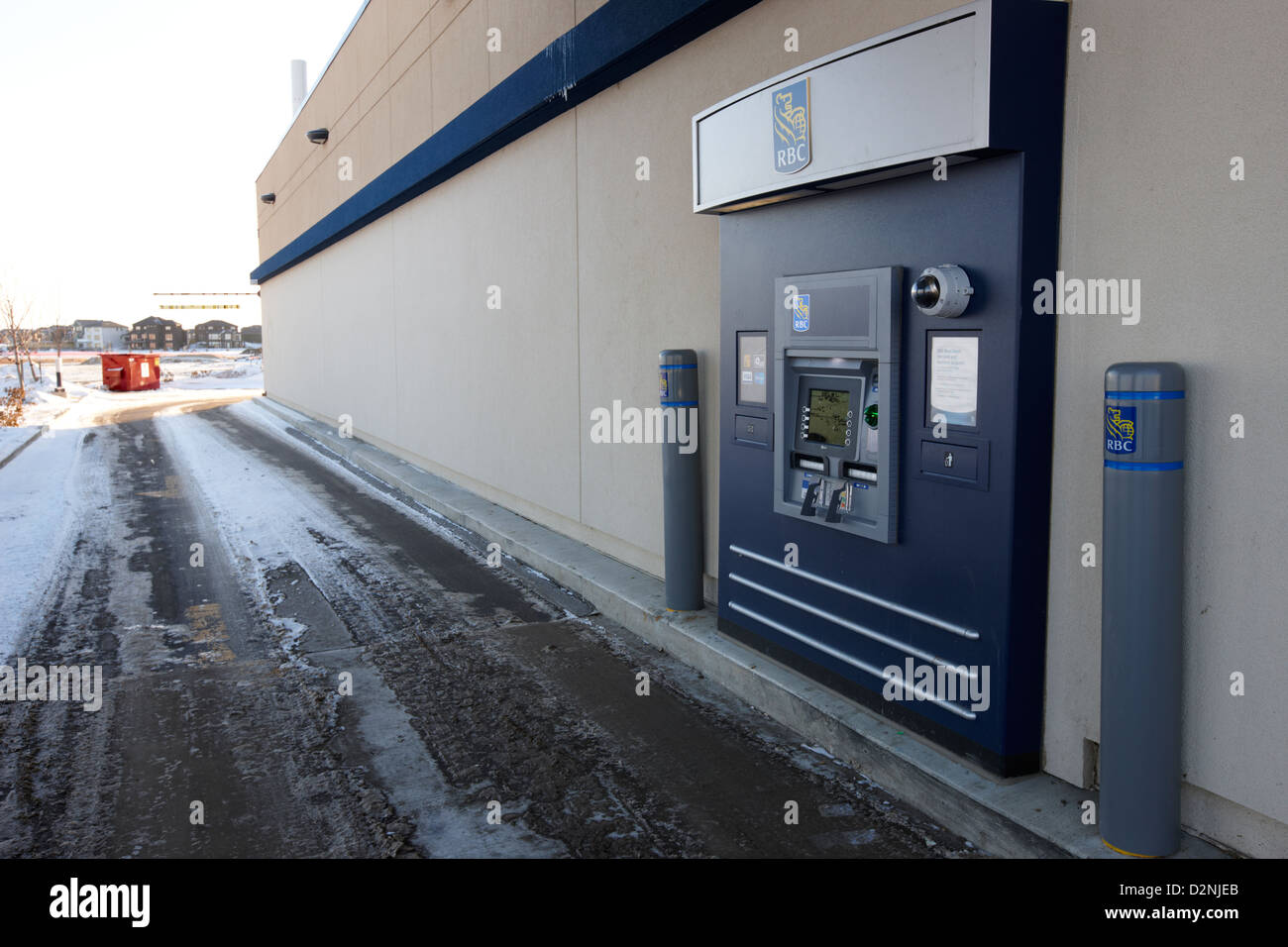 Drive Through Bank Stock Photos Images Wiring Money Rbc Atm Outside In Winter Saskatoon Saskatchewan Canada Image
