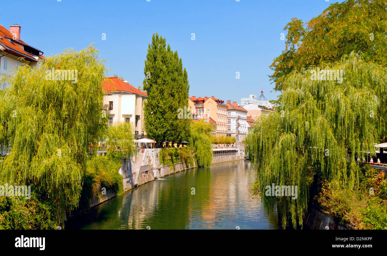 Scene of Ljubljana in Slovenia - Stock Image