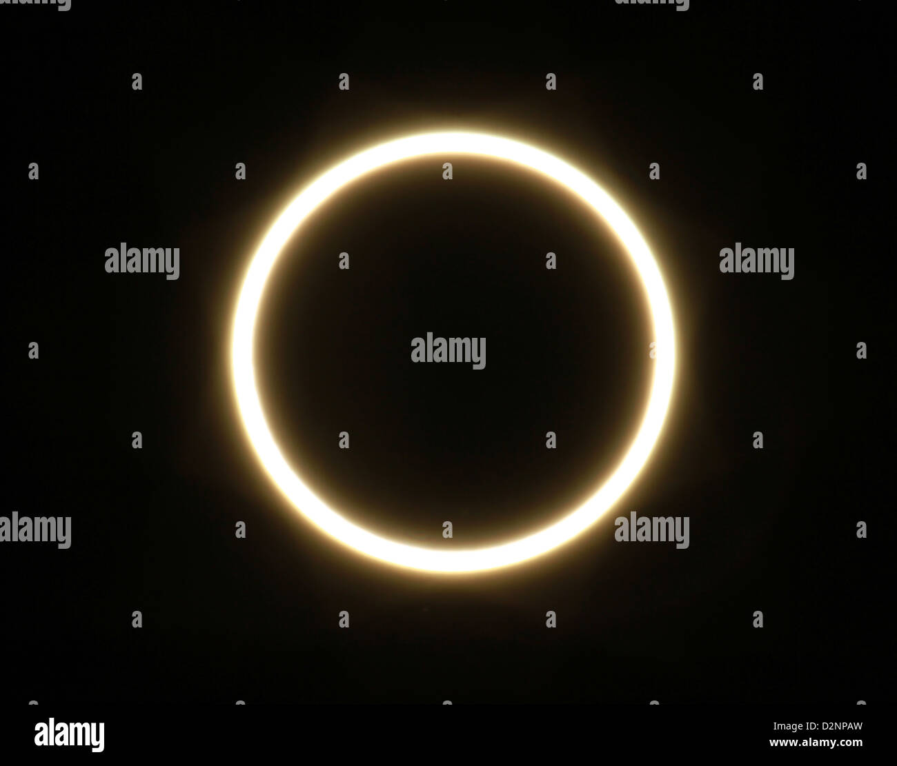 Partial eclipse of the sun, Navajo Land, Arizona May 2012 - Stock Image