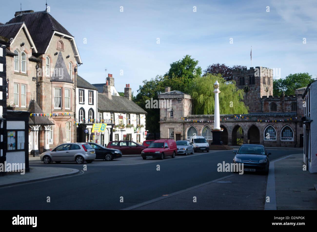 Boroughgate, market square, Appleby-in-Westmorland, Cumbria, England, Britain - Stock Image