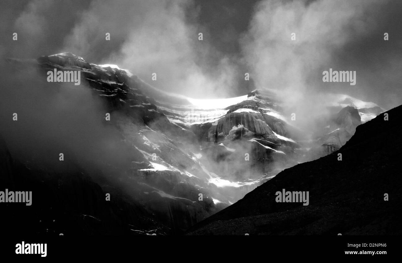 Himalayan Panorama near Mt Kailash - Stock Image