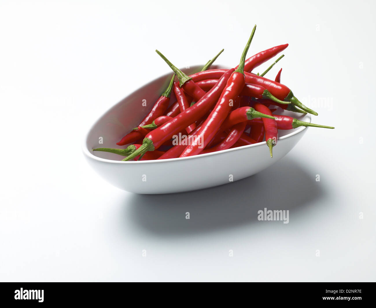 Bowl of red chillies - Stock Image