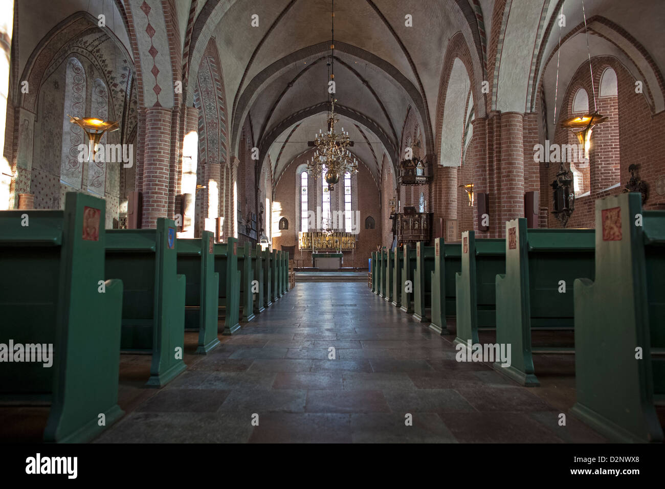 St. Mary's Church (Mariakyrkan) at Sigtuna, Sweden Stock Photo