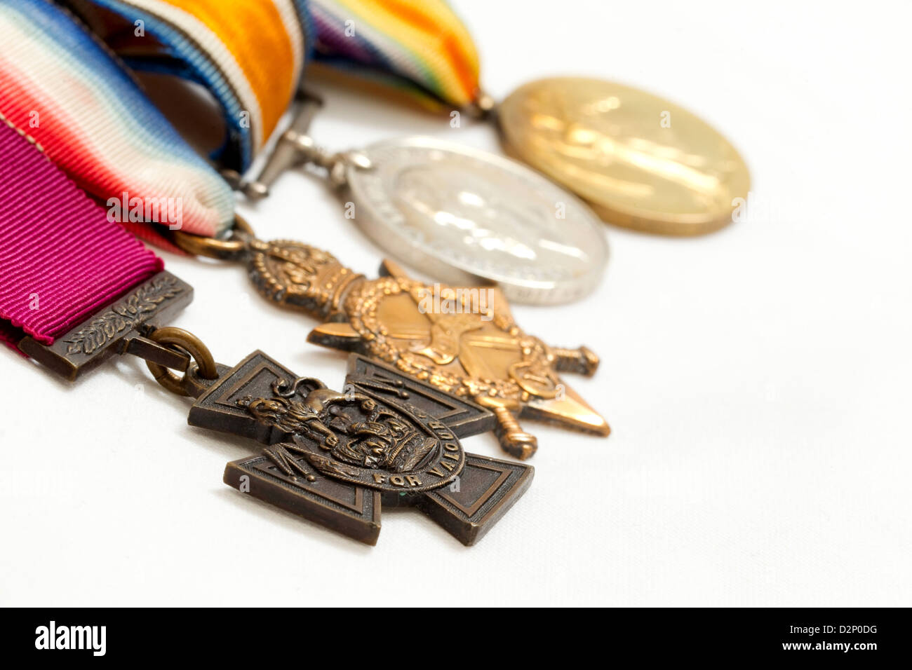 Victoria Cross with other medals - Stock Image