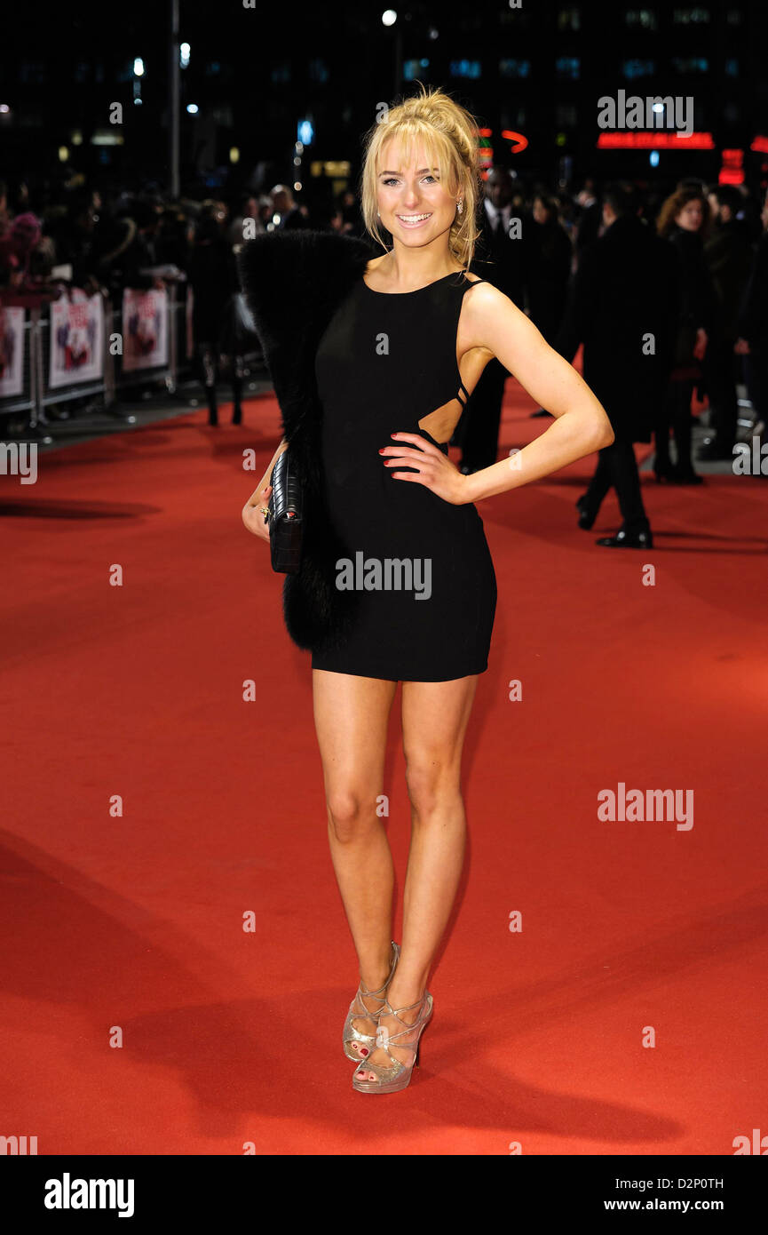 Kimberley Garner attends the I Give It A Year - European Premiere on 24/01/2013 at The VUE Leicester Square, London. - Stock Image