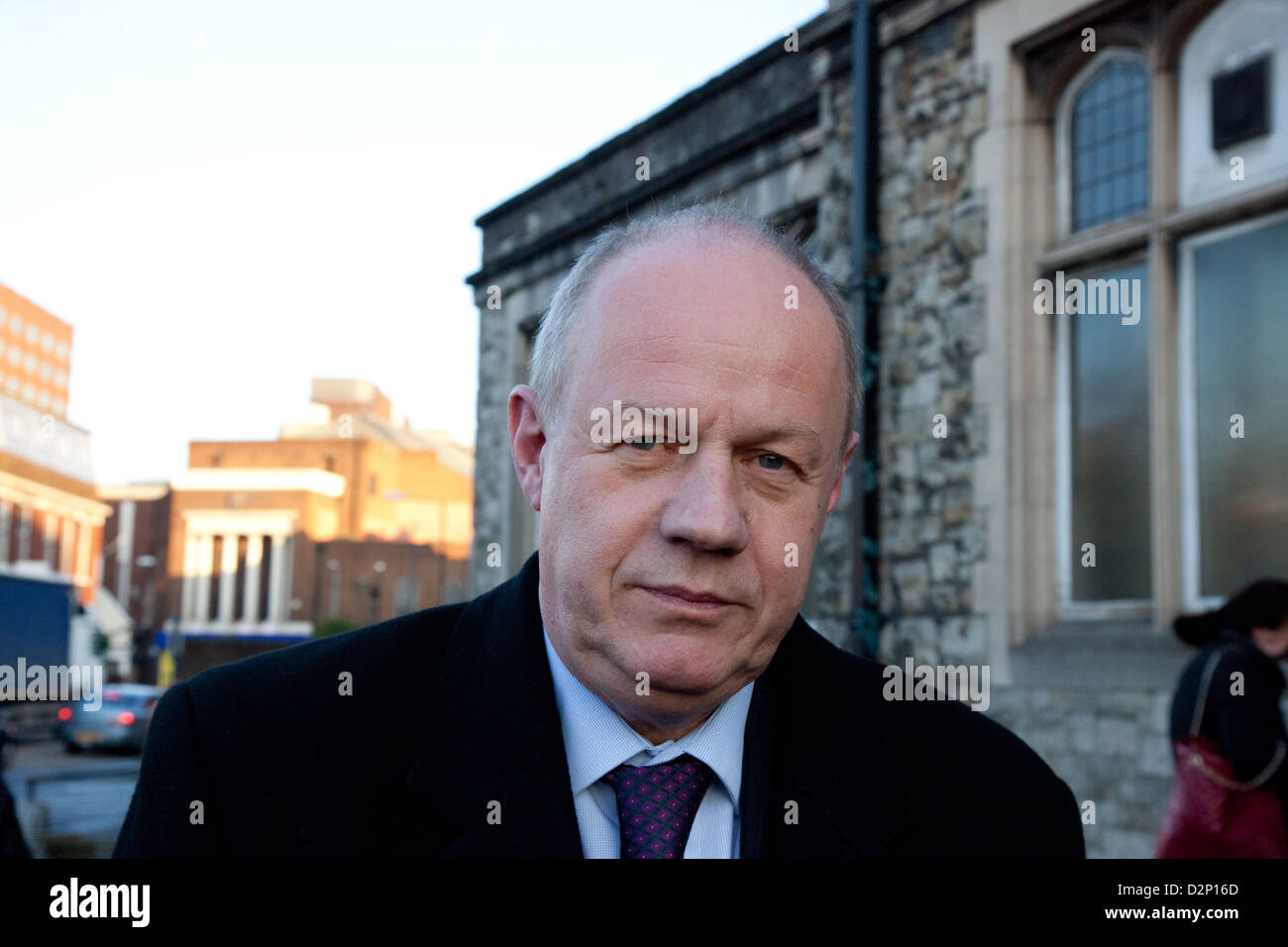 Damian Green MP, Minister of State for Policing and Criminal Justice. He is stepping out of Maidstone Magistates - Stock Image