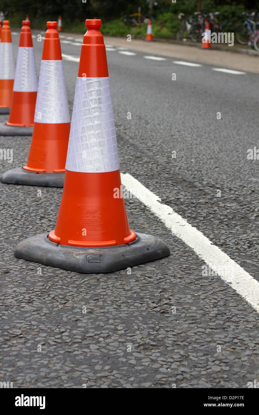 Traffic cones. - Stock Image