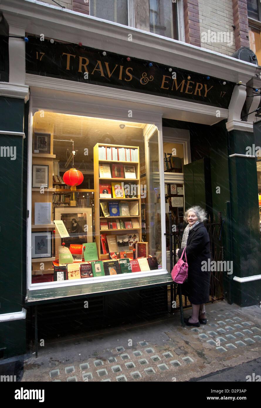 Travis & Emery Music Bookshop, 17 Cecil Court, Covent Garden, London, England, UK - Stock Image