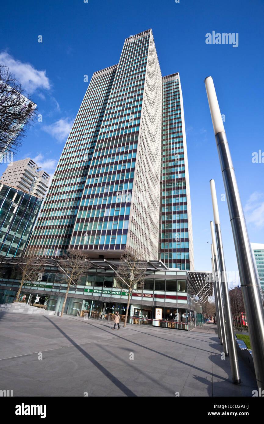 Euston Tower skyscraper, Euston Road, London, England, UK - Stock Image
