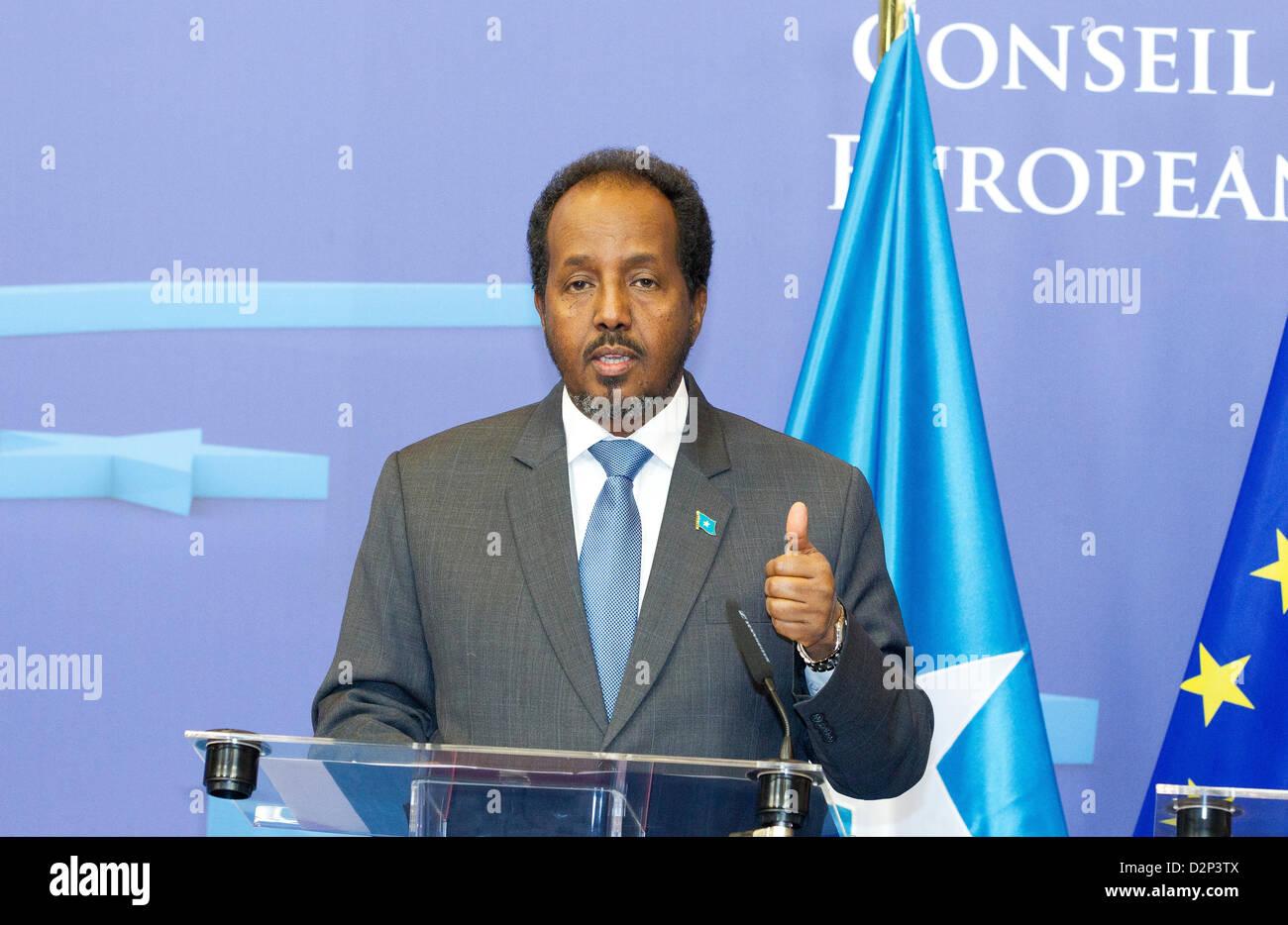 President Somalia Hassan Sheikh Mohamud mohamoud - Stock Image