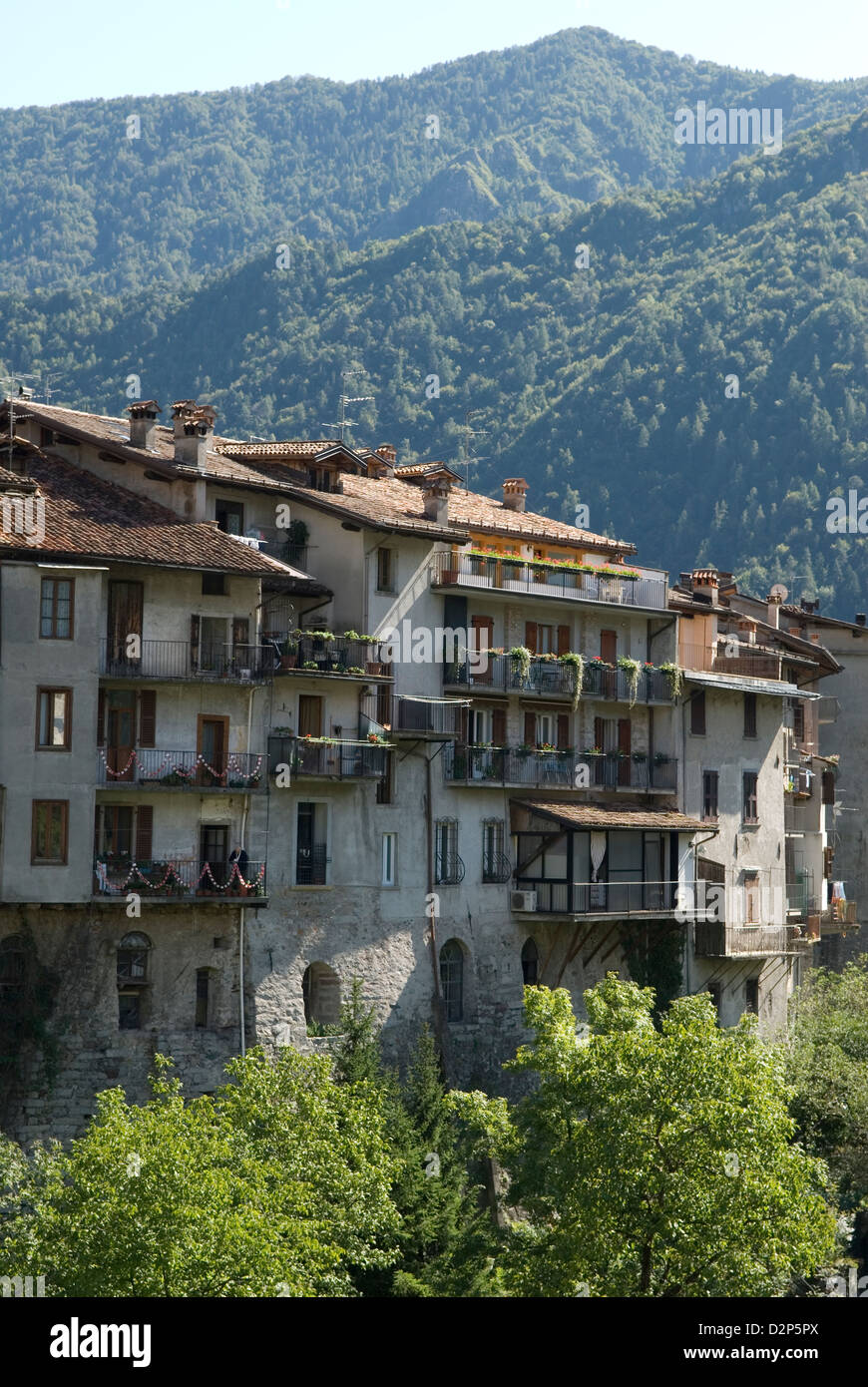 Bagolino Lombardy Italy travel tourism - Stock Image
