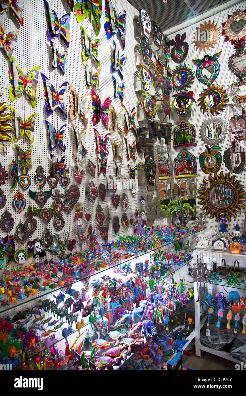Stalls At Mercado Artesanias In Oaxaca Mexico Stock Photo