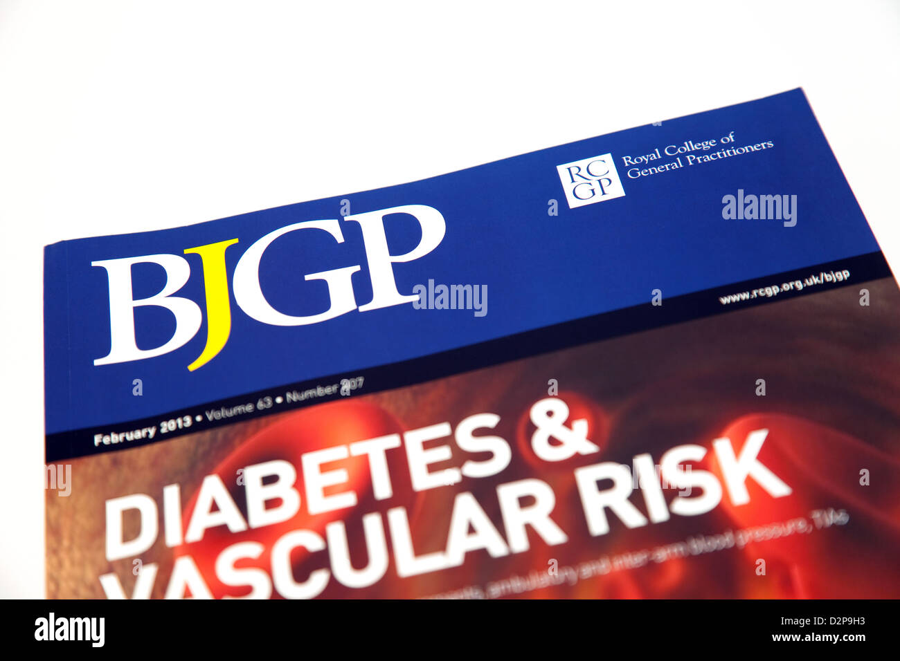 The British Journal of General Practice - the journal of the RCGP ( Royal college of General Practitioners) - Stock Image