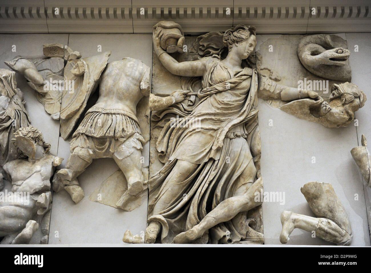 Pergamon Altar North Frieze Probably Goddess Nyx Or