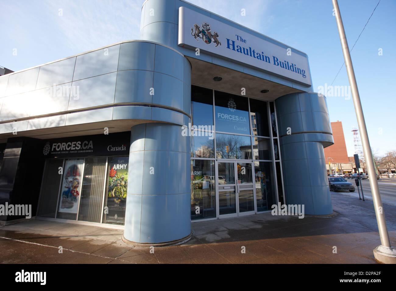 canadian armed forces recruiting office haultain building Saskatoon Saskatchewan Canada - Stock Image