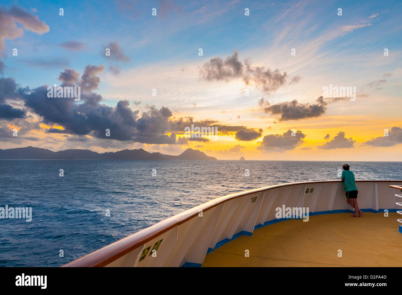 Martinique Fort de France caribbean island sunrise tropical view l Stock Photo
