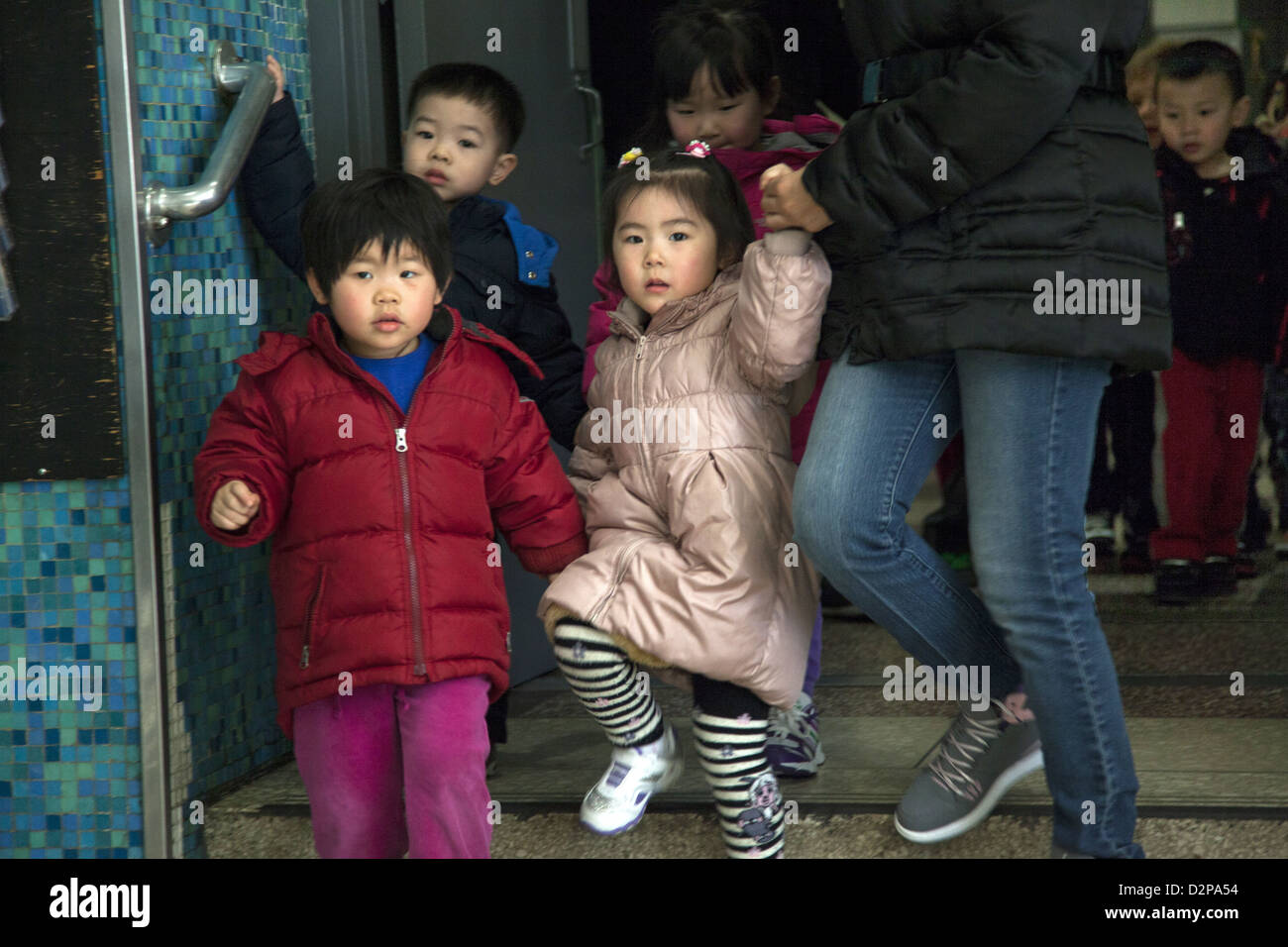 Nursery school/ day care on the Lower East Side of Manhattan. - Stock Image