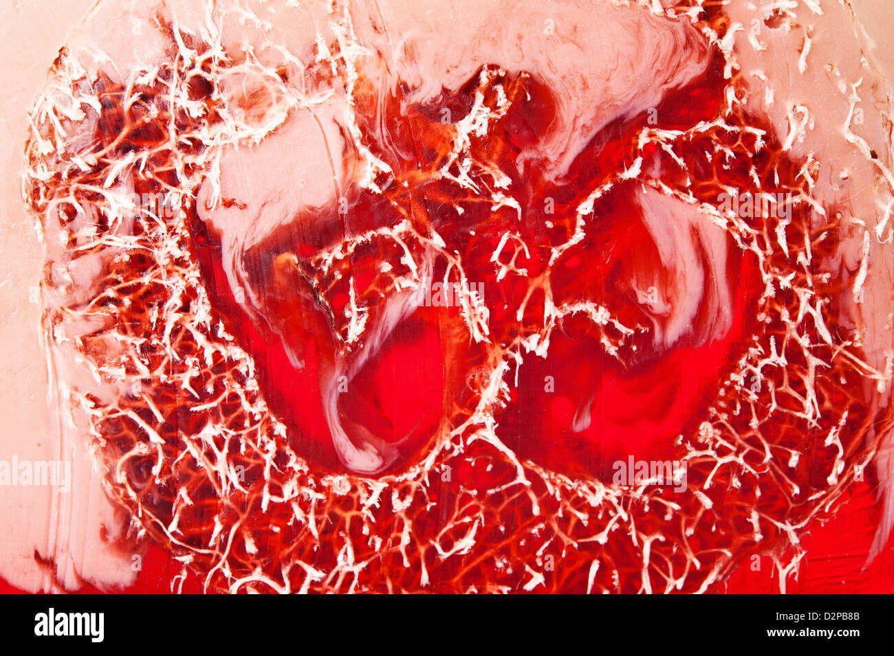Texture of red handmade soap on clearance - Stock Image