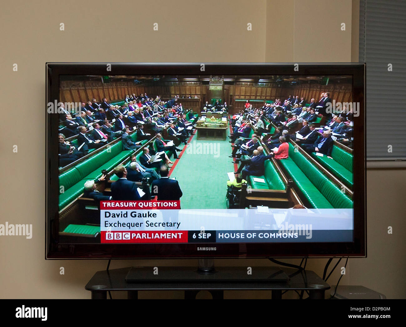 BBC Parliament TV channel showing Members / MP's in the