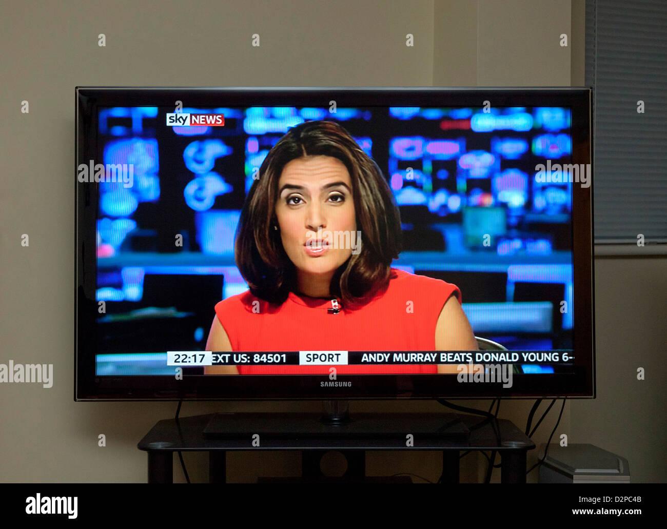sky news channel on tv stock photo 53352891 alamy