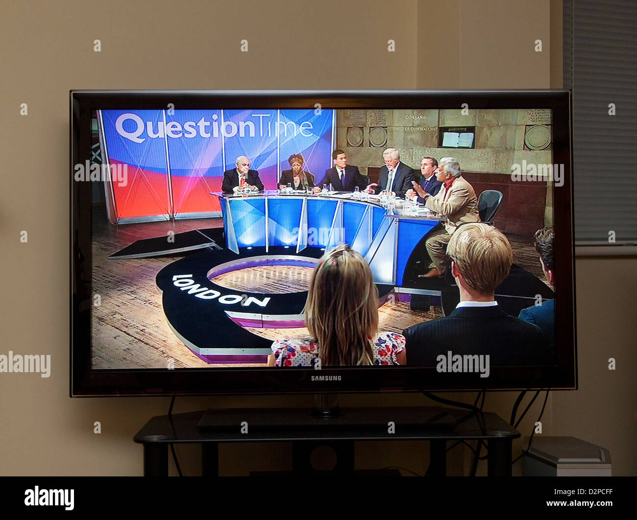BBC Question Time programme in UK - Stock Image