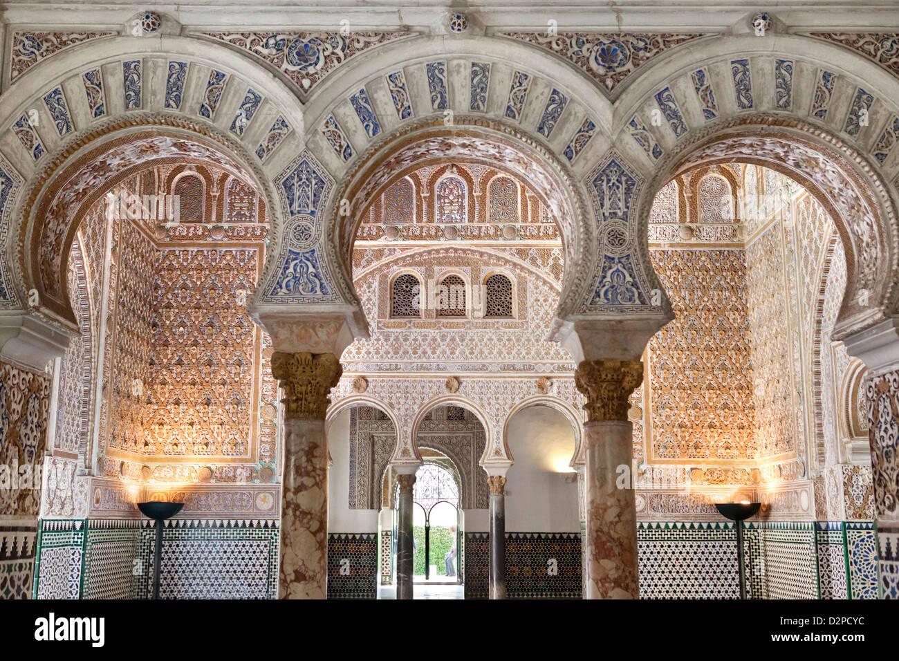 Seville Alcazar. Salon de Embajadores - Stock Image