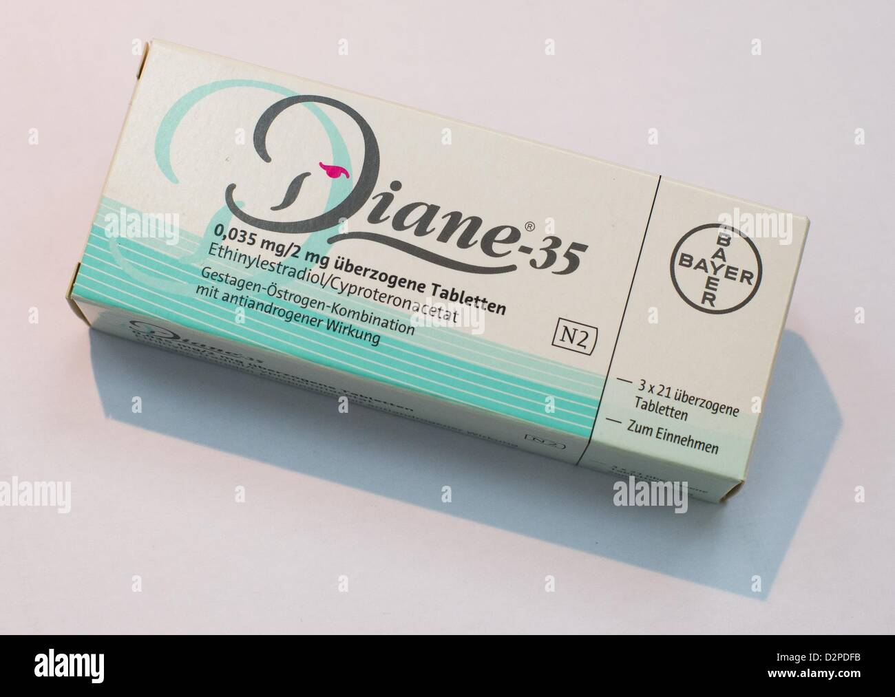The Contraceptive Diane 35 Is Pictured At A Pharmacy In Munich Stock