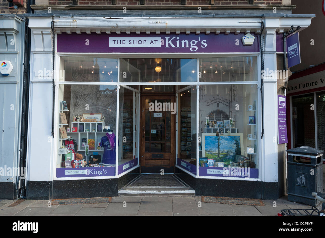 The King's College shop King's Parade Cambridge UK - Stock Image