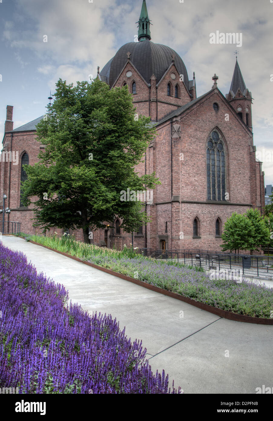 A Church in Oslo Norway - Stock Image