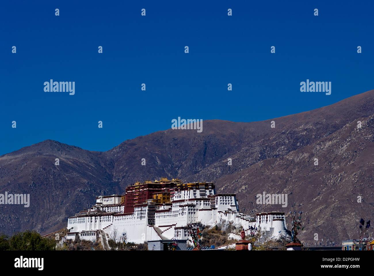 the potala palace, lhasa, tibet - Stock Image