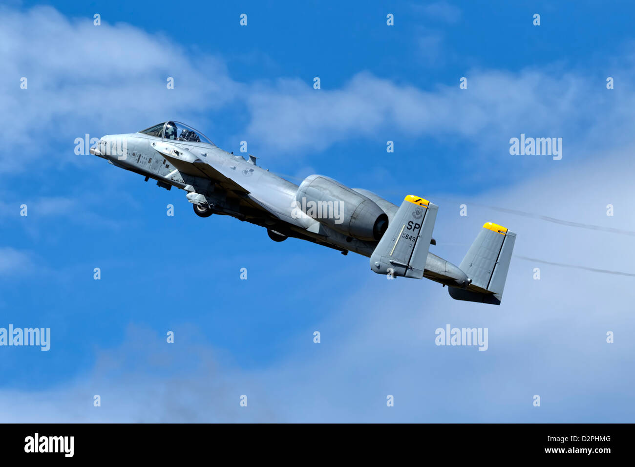 A USAF Fairchild Republic A10 Thunderbolt II Warthog ground attack aircraft - Stock Image