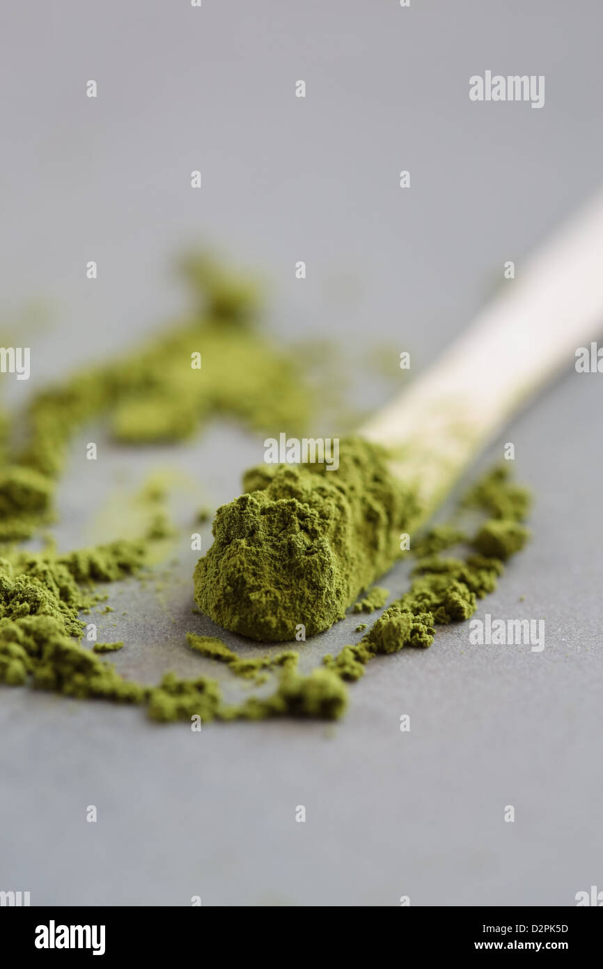 Powdered Green Tea, Matcha, Tea - Stock Image