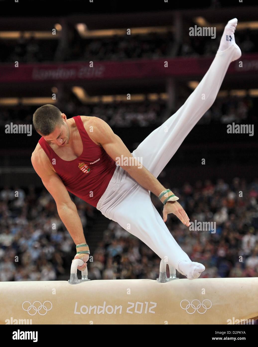 Krisztian Berki (HUN, Hungary). Individual Gymnastics Stock Photo