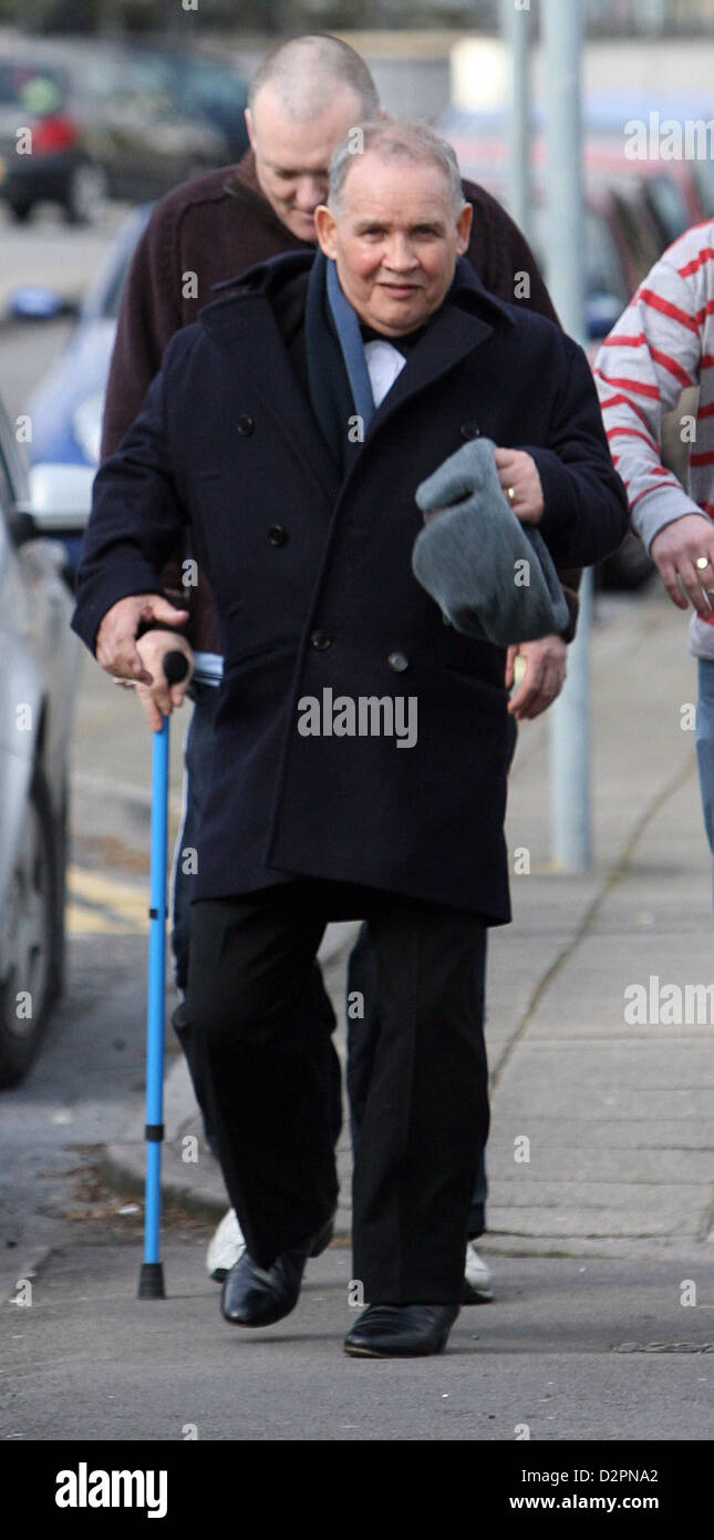 Griffith Mortimer Davies, a 70 year old pensioner who appeared at Swansea Crown Court on drug charges dressed in - Stock Image