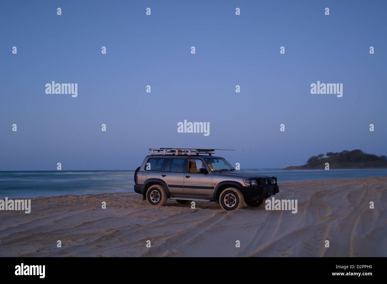 Fishing trip, Fraser Island QLD Australia Stock Photo